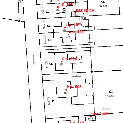 Katastrální mapa Stavební objekt Rtyně v Podkrkonoší 504, Rtyně v Podkrkonoší