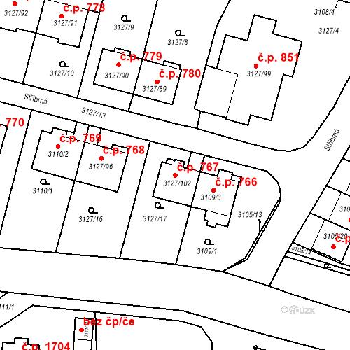 Katastrální mapa Stavební objekt Bystřice nad Pernštejnem 767, Bystřice nad Pernštejnem