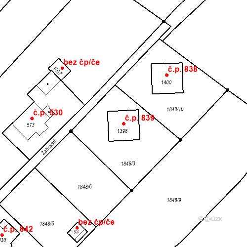 Katastrální mapa Stavební objekt Rtyně v Podkrkonoší 839, Rtyně v Podkrkonoší