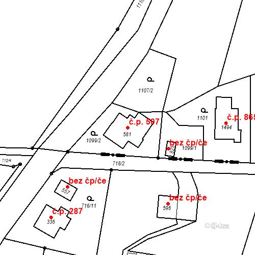 Katastrální mapa Stavební objekt Rtyně v Podkrkonoší 507, Rtyně v Podkrkonoší