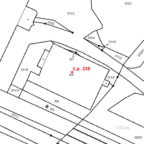 Katastrální mapa Stavební objekt Malé Svatoňovice 339, Malé Svatoňovice