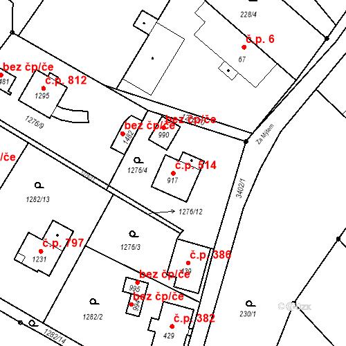 Katastrální mapa Stavební objekt Rtyně v Podkrkonoší 514, Rtyně v Podkrkonoší