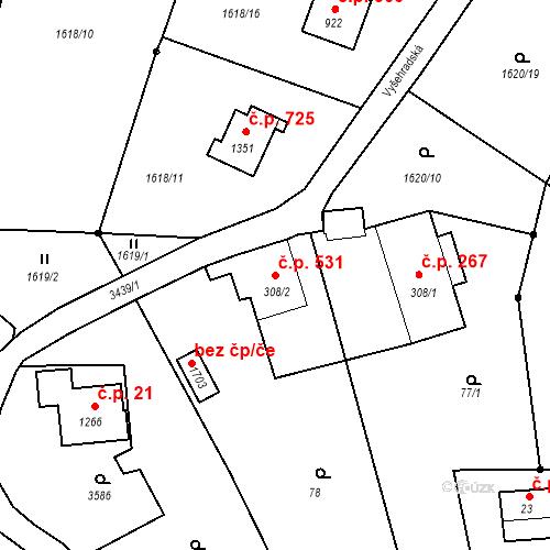 Katastrální mapa Stavební objekt Rtyně v Podkrkonoší 531, Rtyně v Podkrkonoší