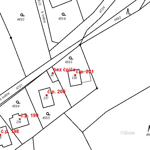 Katastrální mapa Stavební objekt Malé Svatoňovice 201, Malé Svatoňovice