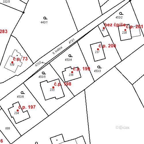 Katastrální mapa Stavební objekt Malé Svatoňovice 199, Malé Svatoňovice
