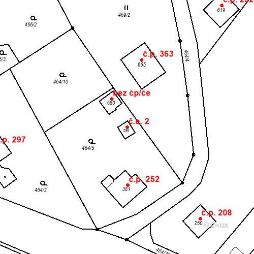 Katastrální mapa Stavební objekt Malé Svatoňovice 2, Malé Svatoňovice