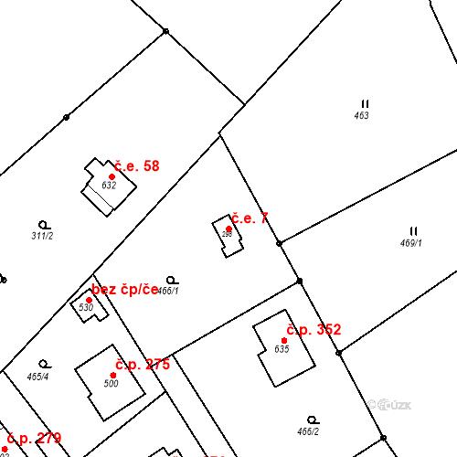 Katastrální mapa Stavební objekt Malé Svatoňovice 7, Malé Svatoňovice