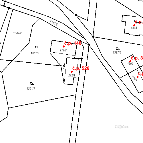 Katastrální mapa Stavební objekt Rtyně v Podkrkonoší 528, Rtyně v Podkrkonoší