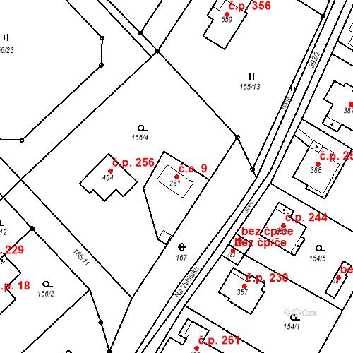 Katastrální mapa Stavební objekt Malé Svatoňovice 9, Malé Svatoňovice