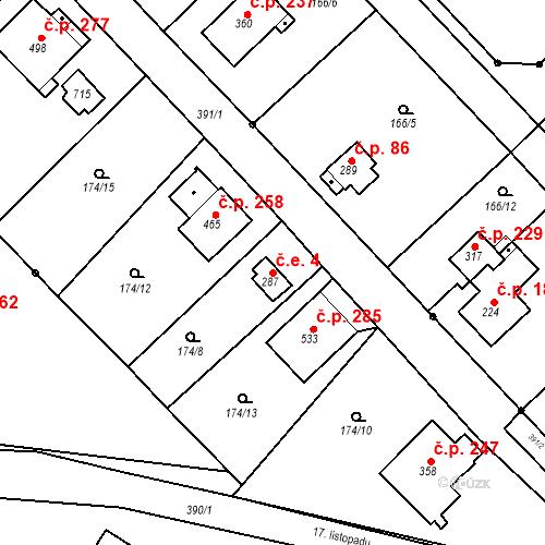 Katastrální mapa Stavební objekt Malé Svatoňovice 4, Malé Svatoňovice