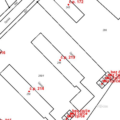 Katastrální mapa Stavební objekt Malé Svatoňovice 213, Malé Svatoňovice