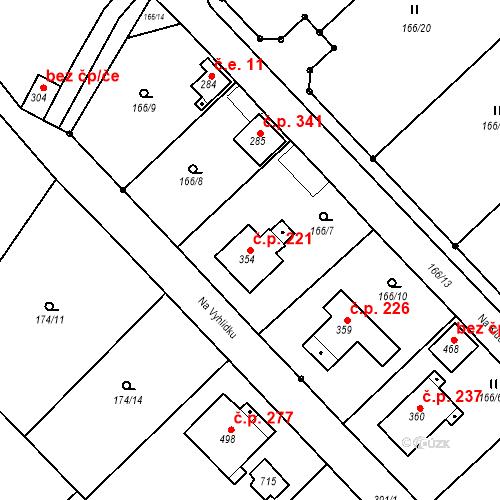 Katastrální mapa Stavební objekt Malé Svatoňovice 221, Malé Svatoňovice