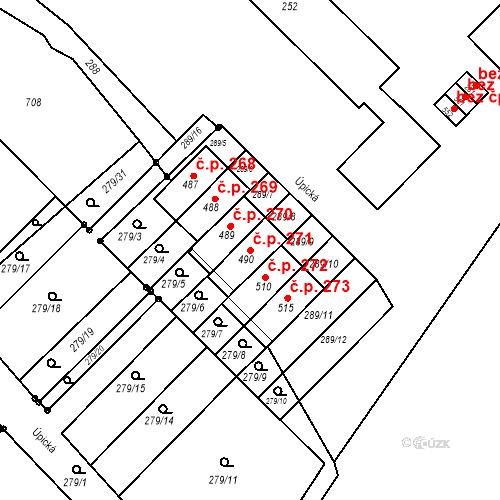 Katastrální mapa Stavební objekt Malé Svatoňovice 271, Malé Svatoňovice