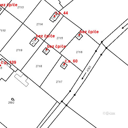 Katastrální mapa Stavební objekt Malé Svatoňovice 60, Malé Svatoňovice