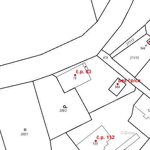 Katastrální mapa Stavební objekt Malé Svatoňovice 63, Malé Svatoňovice