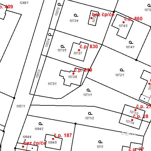 Katastrální mapa Stavební objekt Česká Skalice 839, Česká Skalice