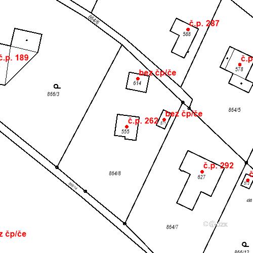 Katastrální mapa Stavební objekt Batňovice 262, Batňovice