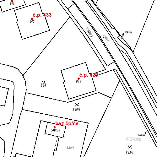 Katastrální mapa Stavební objekt Velká Bíteš 429, Velká Bíteš
