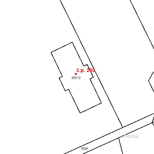 Katastrální mapa Stavební objekt Oleksovice 260, Oleksovice