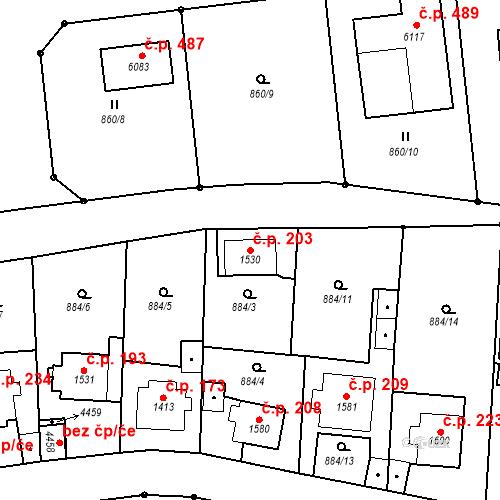 Katastrální mapa Stavební objekt Kryblice 203, Trutnov