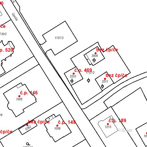 Katastrální mapa Stavební objekt Horní Předměstí 469, Trutnov