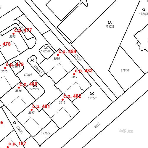 Katastrální mapa Stavební objekt Horní Předměstí 483, Trutnov