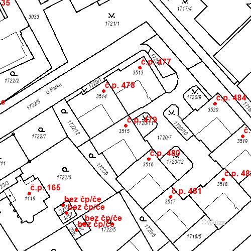 Katastrální mapa Stavební objekt Horní Předměstí 479, Trutnov