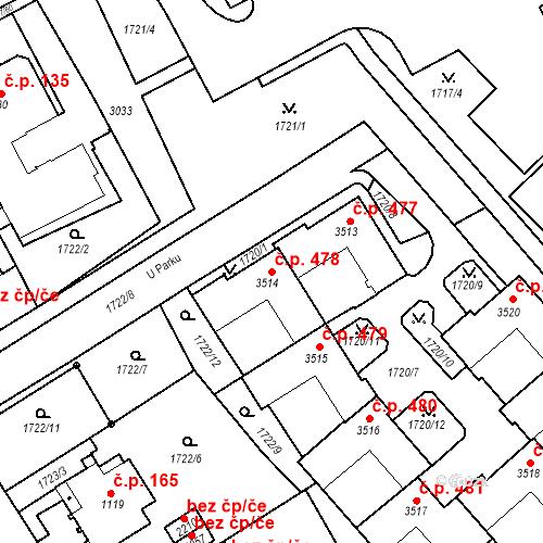 Katastrální mapa Stavební objekt Horní Předměstí 478, Trutnov