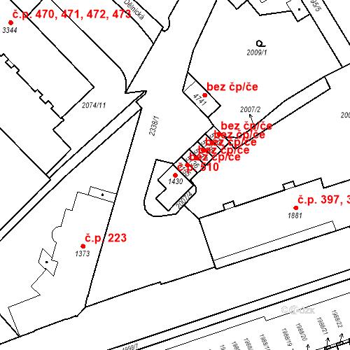 Katastrální mapa Stavební objekt Horní Předměstí 510, Trutnov