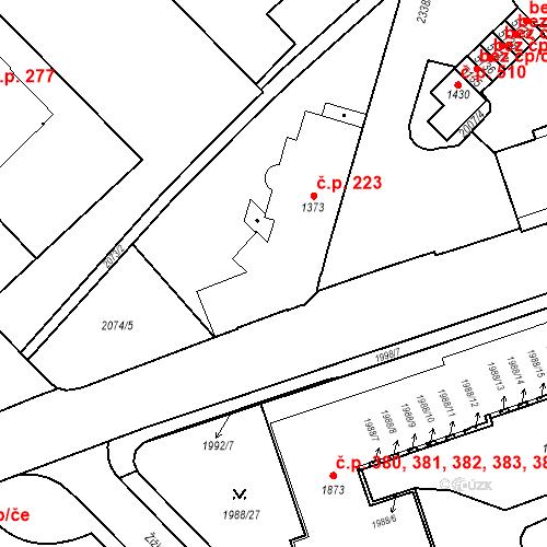 Katastrální mapa Stavební objekt Horní Předměstí 107, Trutnov