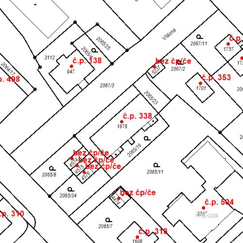 Katastrální mapa Stavební objekt Horní Předměstí 338, Trutnov