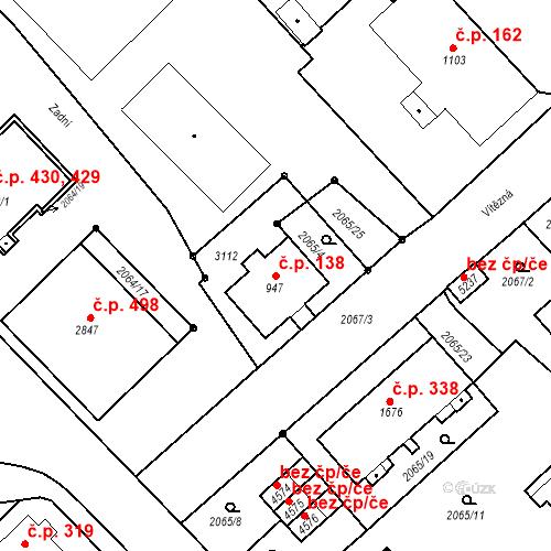 Katastrální mapa Stavební objekt Horní Předměstí 138, Trutnov
