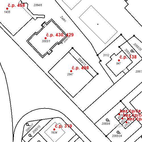 Katastrální mapa Stavební objekt Horní Předměstí 498, Trutnov