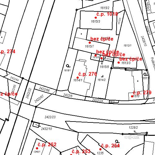 Katastrální mapa Stavební objekt Holice 276, Holice