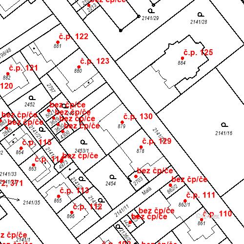 Katastrální mapa Stavební objekt Horní Předměstí 130, Trutnov