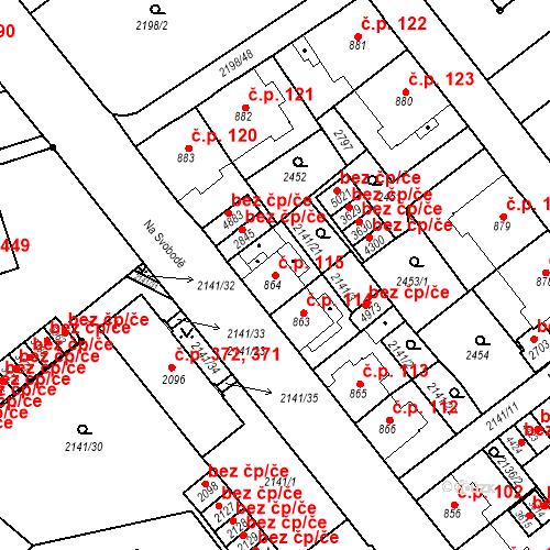 Katastrální mapa Stavební objekt Horní Předměstí 115, Trutnov
