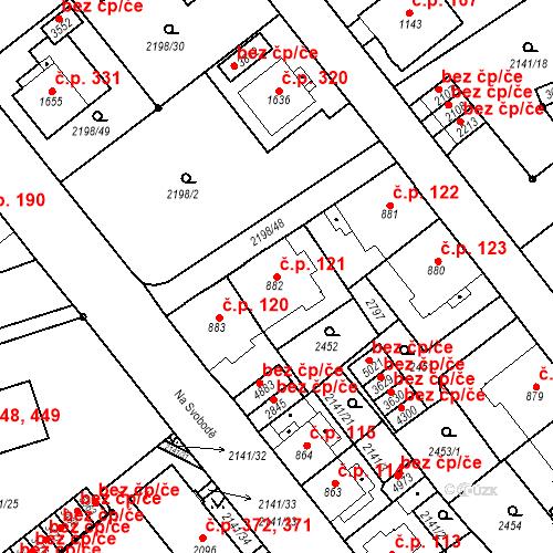 Katastrální mapa Stavební objekt Horní Předměstí 121, Trutnov