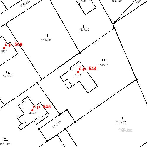 Katastrální mapa Stavební objekt Horní Předměstí 544, Trutnov