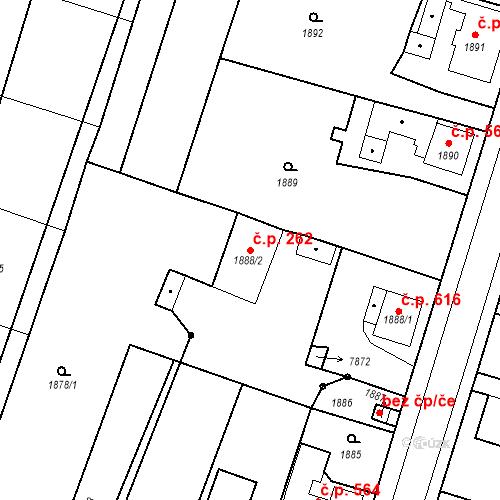 Katastrální mapa Stavební objekt Holice 262, Holice