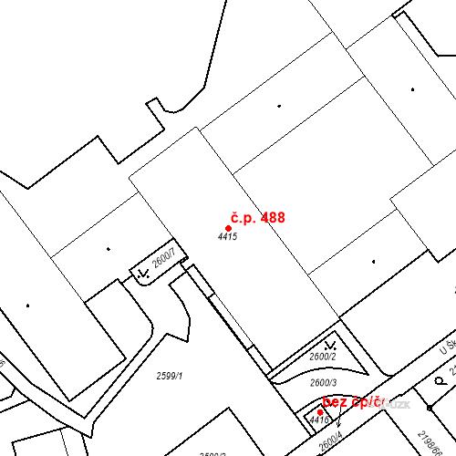 Katastrální mapa Stavební objekt Horní Předměstí 488, Trutnov