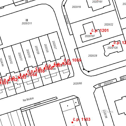 Katastrální mapa Stavební objekt Holice 1059, Holice