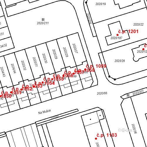 Katastrální mapa Stavební objekt Holice 1058, Holice