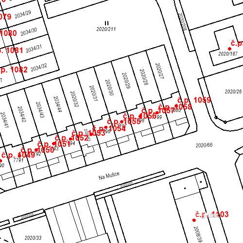 Katastrální mapa Stavební objekt Holice 1056, Holice
