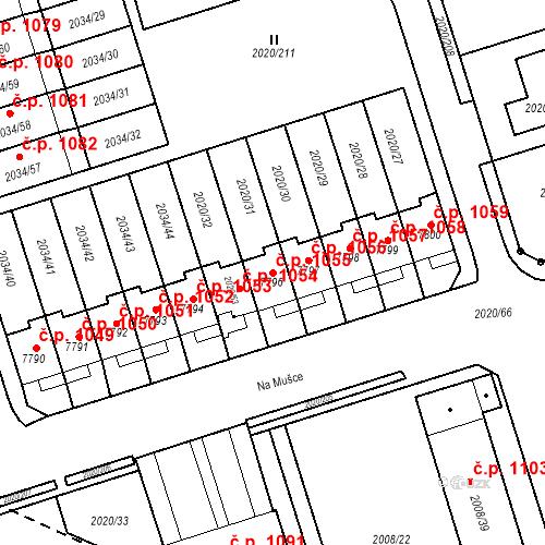 Katastrální mapa Stavební objekt Holice 1055, Holice