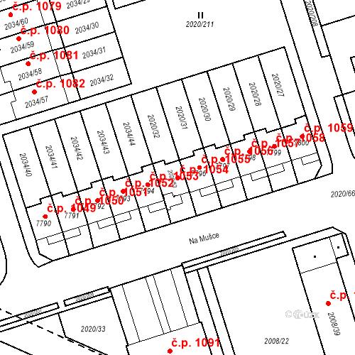 Katastrální mapa Stavební objekt Holice 1054, Holice