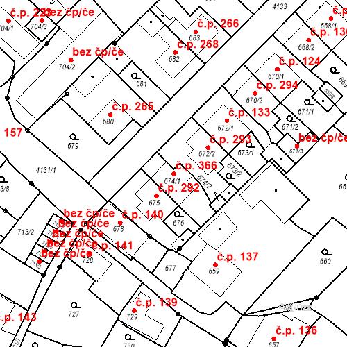 Katastrální mapa Stavební objekt Jakubské Předměstí 366, Jaroměř