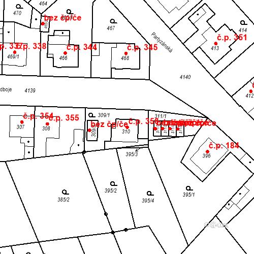 Katastrální mapa Stavební objekt Jakubské Předměstí 356, Jaroměř