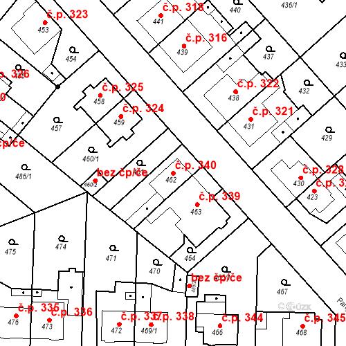 Katastrální mapa Stavební objekt Jakubské Předměstí 340, Jaroměř