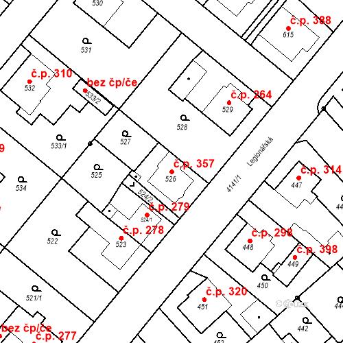 Katastrální mapa Stavební objekt Jakubské Předměstí 357, Jaroměř