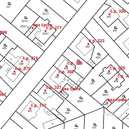 Katastrální mapa Stavební objekt Jakubské Předměstí 326, Jaroměř